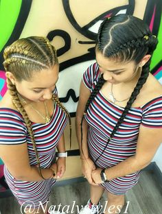 27 Best Ideas For Hair Styles Fancy Hairdos Cute Braided Hairstyles, Ethnic Hairstyles, Box Braids Hairstyles, Girl Hairstyles, Two Cornrow Braids, Curly Hair Styles, Natural Hair Styles, Feed In Braid, Fresh Hair