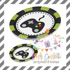 Video Gamer Party Plates by BashConfetti on Etsy