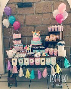 Twin Birthday, Unicorn Birthday Parties, Unicorn Party, Birthday Ideas, Candy Bar Party, Candy Table, Dessert Table, Candy Bar Bautizo, Candy Bar Comunion