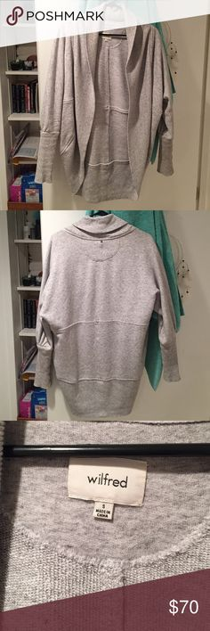 Wilfred Diderot gray sweater Small, I love this but I need money more. This is perfect condition, wore a while but taken great care of Aritzia Sweaters Shrugs & Ponchos