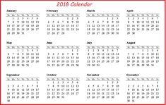 printable 2018 calendar on one page 2018 calendar template
