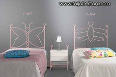 Dormitorios infantiles : Cabecero modelo Mariposa ind y Abeja. Decoración Beltrán, tu tienda online de cabeceros y camas. www.forjabeltran.com