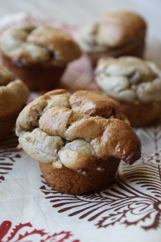 SCD Banana-Nut Butter Muffins (*Use honey for sweetener...)