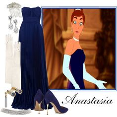 A fashion look from August 2013 featuring Elie Saab gowns, Nicholas Kirkwood pumps and Cartier necklaces. Browse and shop related looks. Disney Princess Outfits, Disney Themed Outfits, Disney Dresses, Disneybound Outfits, Komplette Outfits, Classy Outfits, Anastacia Disney, Opera Dress, Estilo Disney