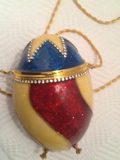 Vivian Alexander Fabergé Egg Purse. Number 29 out of only 150. Has a small mirror in the lid.