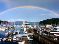 Friday Harbor, San Juan Islands Washington- another great place for everything! there are cheap  cozy cottages, mountains to hike, beaches to enjoy, GREAT eats and cute little shops. Had the best time ever there!