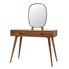 Solid Acacia Vintage Dressing Table Yucca on Maisons du Monde. Take your pick from our furniture and accessories and be inspired! Unique Furniture, Repurposed Furniture, Vintage Furniture, Furniture Decor, Furniture Design, 2 Drawer Dressing Table, Vintage Dressing Tables, Acacia, Scandinavian Style Bedroom