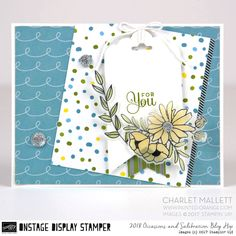 For You card - Cake Soiree stamp set & embellishments - Charlet Mallett, Stampin' Up!Occasions Catalog 2018