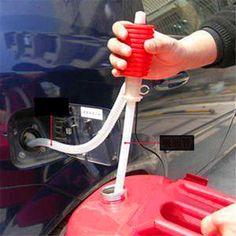 2017 New High Quality Portable Manual Car Siphon Hose Gas Oil Water Liquid Transfer Hand Pump Sucker High Quality