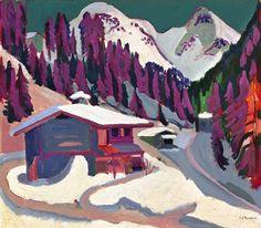 Ernst Ludwig Kirchner - Sol de gibier dans la neige