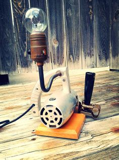 Repurposed Power Kraft Reciprocating Saw Lamp by HUEisit on Etsy