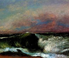 likeafieldmouse: Gustave Courbet's Waves(1866-70)