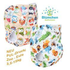 Blümchen Pocketwindel PUL Drucki- Eulen / Zoo