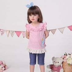 33.98$  Watch more here - http://aip7n.worlditems.win/all/product.php?id=32727327355 - 2016 Summer New Children's Clothing and Suit for Girls Female Baby Cartoon Short Sleeved Pants Suit Cotton Embroidery V-0013