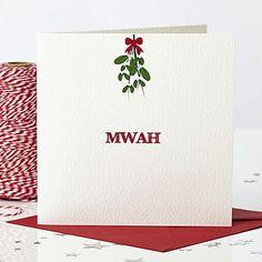 'Mwah' Mistletoe Christmas Card