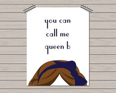 You Can Call Me Queen B Gossip Girl Home by HistoryinHighHeels, $12.00