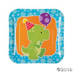 Perk up that dinosaur birthday party with these precious paper plates! Kids love the fun design, and you'll love how sturdy they are! Heap them with ...