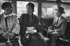 Rosa Parks (center) rode on a newly-integrated bus in Montgomery, Alabama, after she helped change unfair laws. On December Rosa Parks showed great courage. Lady Diana, Rosa Parks Quotes, Bus Boycott, Civil Rights Activists, Thing 1, Amelia Earhart, Book Trailers, Civil Rights Movement, Brown Girl