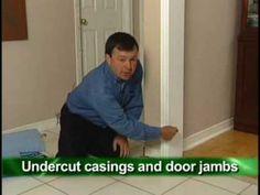 Proper Installation of pergo / laminate Flooring Around Doors and Floorboards. Moldings. Finish.how to.