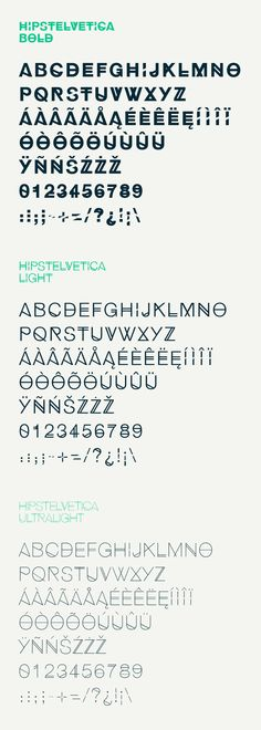 Hipstelvetica, fuente gratuita creada por José Gomes