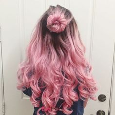 50 Pretty Pastel Pink Hair Color As The Inspiration To Try Pink Hair Cute Hair Colors, Pretty Hair Color, Beautiful Hair Color, Hair Dye Colors, Ombre Hair Color, Dyed Hair Ombre, Pastel Pink Hair, Pink Wig, Long Pink Hair