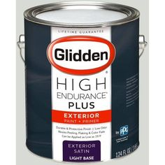 Glidden High Endurance Plus Exterior Paint and Primer, Light Silver Sage, #90YY 73/040