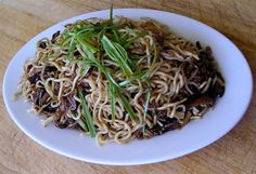 Pork and Mushroom Fried Noodle