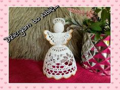 Old School Rose, Crochet Angels, Crochet Snowflakes, Crochet Home, Christmas Ornaments, Holiday Decor, Crafts, Sign, Friends