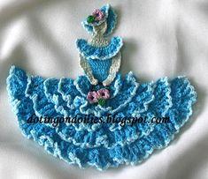 Crinoline Lady in Crochet 1940s Vintage Patterns Book