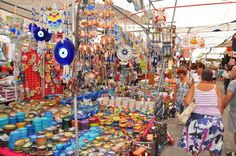 Yalikavak Market souvenirs Bodrum Peninsula Turkey
