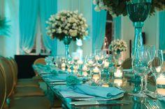 Casamento azul tiffany com dourado | Casar é um barato