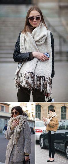 Loving oversized scarves