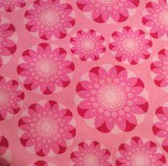 AmazIng Rare 60s swedish vintage mod fabric scandi pattern. Hot pink. Scandinavian design.