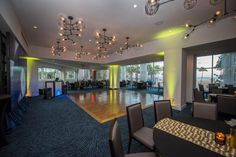 Combine stylish settings and picturesque views, the newly designed Point Room is the perfect choice for entertaining purposes of every kind. Photo by Michael Murphy Photography Studio Fort Lauderdale
