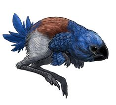 Blue Bird by Gabe-McAlpine on DeviantArt Curious Creatures, Alien Creatures, Prehistoric Creatures, Cute Creatures, Fantasy Creatures, Mythical Creatures, Alien Concept Art, Creature Concept Art, Creature Design