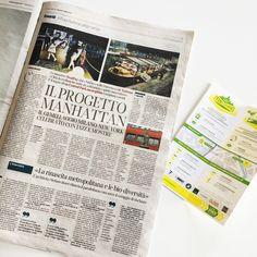 Corriere della sera, foto della pergola Flag 140 nell'articolo dedicato al progetto New York Design Club in corso durante i giorni del Fuori Salone di Milano.