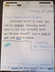 Awesome ideas for an interactive morning message