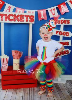 Hey, I found this really awesome Etsy listing at https://www.etsy.com/listing/154094049/rainbow-circus-clown-two-piece-tutu
