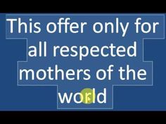 Mother's day offer! Free reading