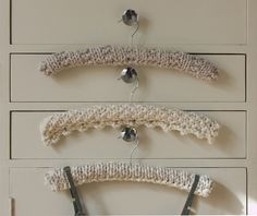 Hanger covers by SarahGolder, via Flickr uses Ultra Denim.....stepping into geratricianship