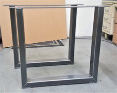 Trapezförmigen Stahlbeine mit 1 oder 2 Klammern Modell