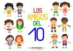 Hola :) En esta entrada tenéis un juego ideal de LOS AMIGOS DEL 10. Al igual que en este vídeo de Conchi Bonilla cada alumno busca a su número amigo, con este juego, descargable a continuación, los…