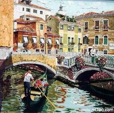 Venice painting-in Painting & Calligraphy from Home & Garden on Aliexpress.com Venice Painting, Italy Painting, Cheap Paintings, Venice Italy, Home And Garden, Calligraphy, Artwork, Lettering, Work Of Art