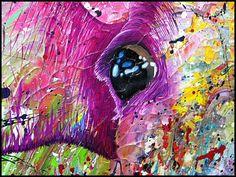 Detail Lightscape-Cow, Dutch artist Anita Ammerlaan. www.anitaammerlaan.exto.nl