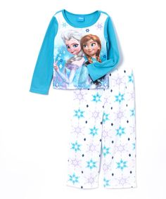 Look at this Blue Frozen Snowflake Pajama Set - Toddler on #zulily today!