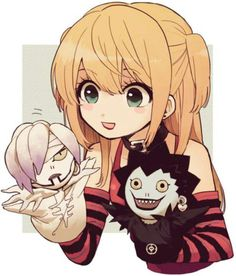 Misa with Rem and Ryuk