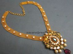 Jewellery Designs: Latest Antique Mesh Necklace