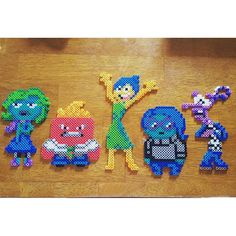 Inside Out characters perler beads by badassbeader