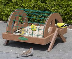 Eco-Strong Haven Platform Bird Feeder. watch out for cats -- made in the USA