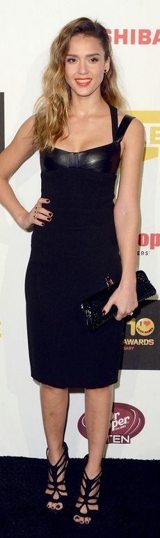 Great Shoes and Black Dress.